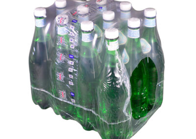 12 pack of large water bottles with a handlewrap