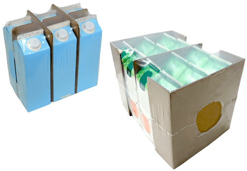 Corrugated risers and shrink wrap